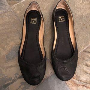 Frye ballet flats black leather
